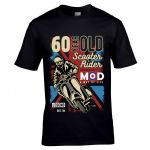 Premium 60 Year Old Scooter Rider MOD Slogan Retro Scooterist Motif 60th Birthday Gift T-shirt Top